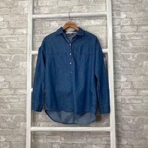 Old Navy The Boyfriend Shirt Size Small